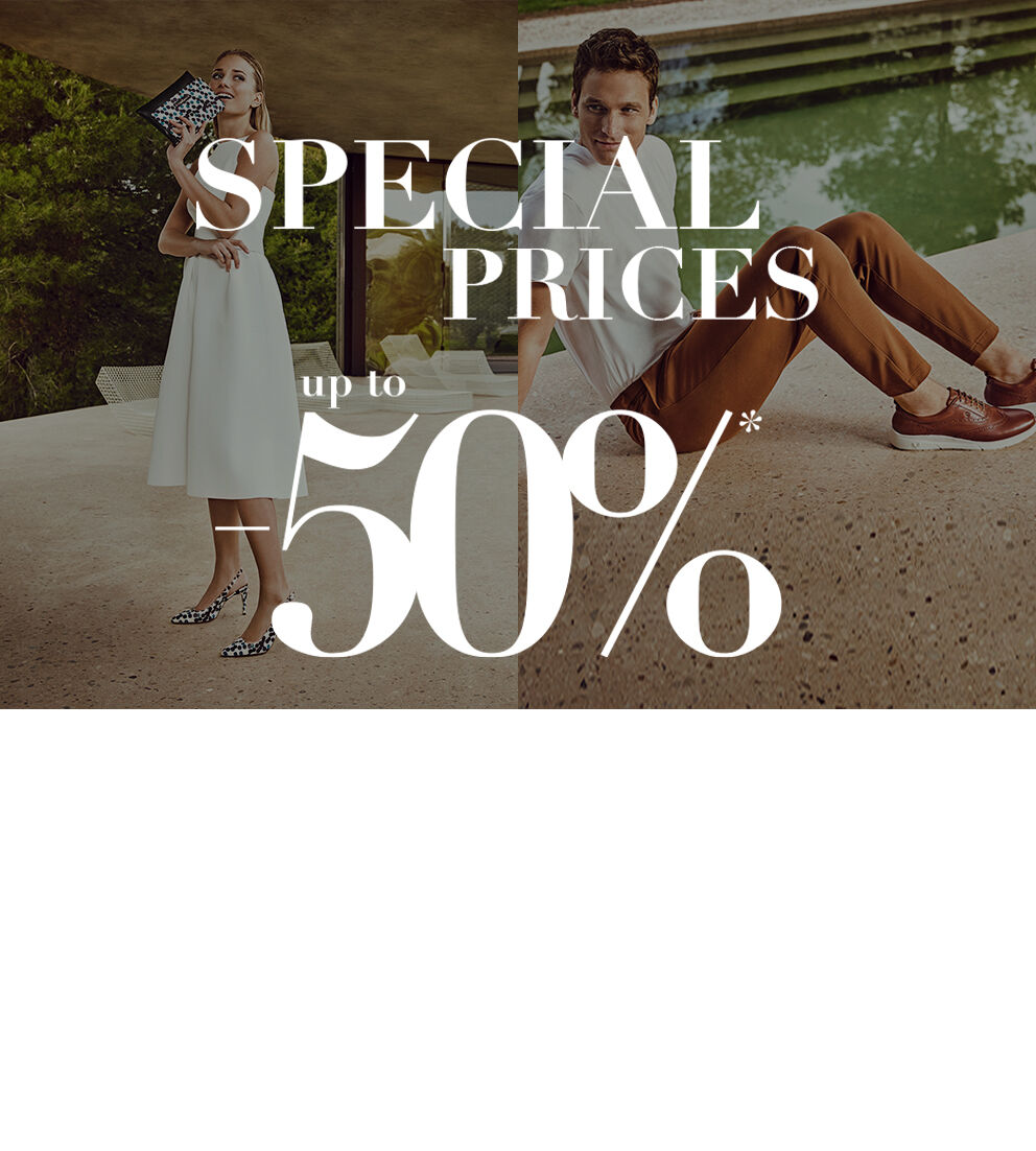 Image of woman and men with promotional discount special prices